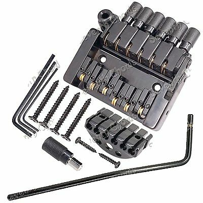 6 String Roller saddle Tremolo Bridge Tailpiece for Headless Guitar Replacement