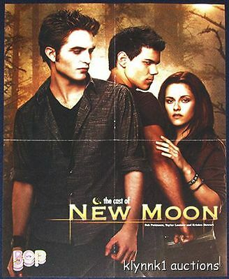 New Moon Twilight Taylor Rob 2 POSTERS Centerfold Lot 2090A Harry Potter S.L.