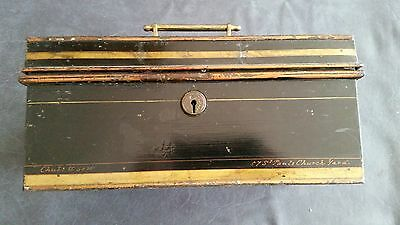 Vintage Chubb Metal Strong box with Key