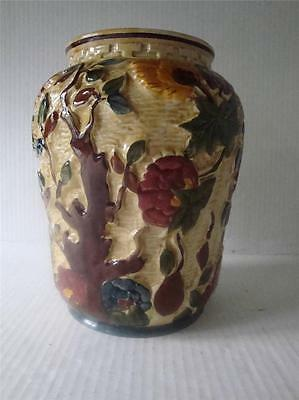 LARGE HANDPAINTED INDIAN TREE VASE BY H J WOOD 1960's.