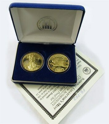 1933 Double Eagle Proof Set - 1 oz .999 Silver -Layered in Gold- NCM Case w/COA