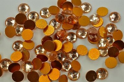 144 Vintage West German Rauten Rose Flatback Rhinestones 11mm Rosaline -A0440