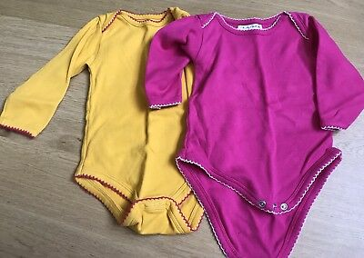 M By Melijoe - Girls Cotton Playsuit - Size 6-12 Months - 2 Pack
