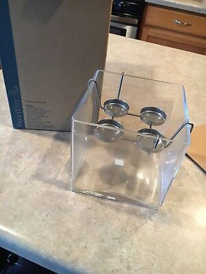Partylite Clearly Creative Cube Tealight Holder EUCIB! P91983