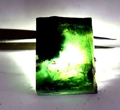 120 Ct Natural Translucent Green Serpentine Earth Mined Facet Slab Rough