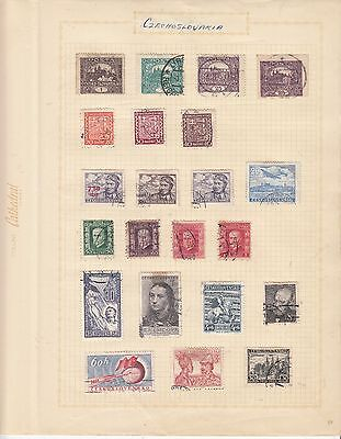 CZECHOSLOVAKIA EARLY COLLECTION on old album Page USED..