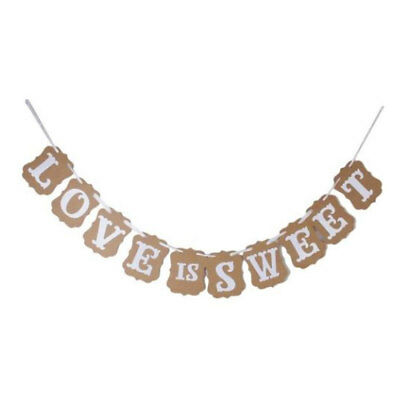 LOVE IS SWEET Letter  Ornament Photo Prop Bunting Banner Set 10 in 1