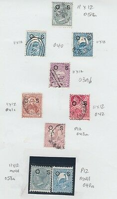 """NEW SOUTH WALES Page of """"OS"""" OVPTS MINT/USED Cat. $130  #"""