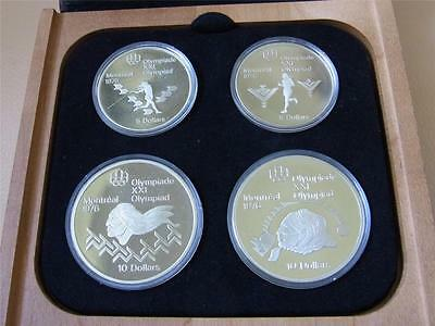 Canada. 1975 4 Pce Silver - Olympic Proof Set. (Series 4)  4-335oz ASW . Cased