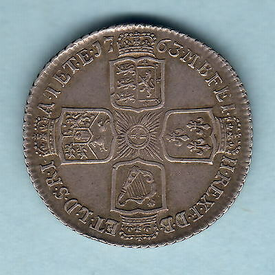 Great Britain. 1763 George 111 - Northumberland Shilling..  gVF - Trace Lustre