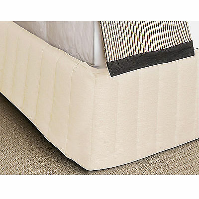 CREAM - Microfiber QUILTED Valance / Bed Skirt - SINGLE OR King Single
