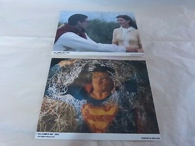 LESTER - REEVE - VAUGHN - Jeu de 8 photos / LC !! SUPERMAN III !!!