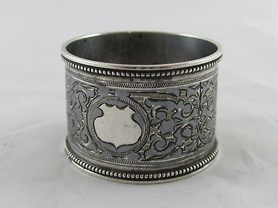 ANTIQUE RUSSIAN SILVER NIELLO NAPKIN RING GRIGORY SBITNEV MOSCOW c1890'S