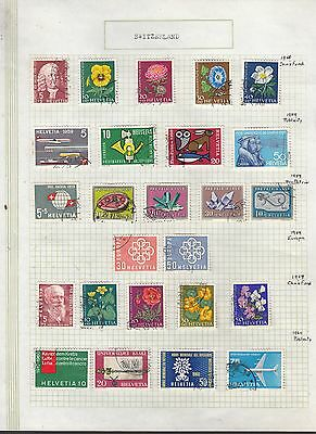 SWITZERLAND 1958-60 Collection FINE USED on Page  Stamps removed for Ship