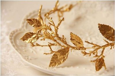 E9 Simple Style Golden Crown Hair Clasp Headwear Jewellery Accessories Y