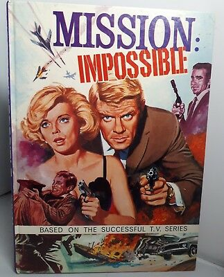 RARE old vintage MISSION IMPOSSIBLE 1969 ANNUAL BOOK hardback RETRO TV atlas UC