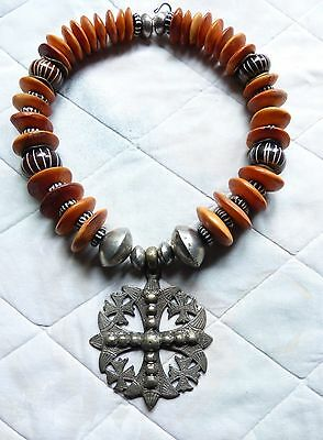 Ethiopian Necklace, Lalibela Coptic Cross Necklace, African Tribal necklace
