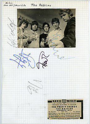 The Rattles Signatures Autographs Germany 1966