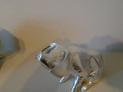 Beautiful Rare & Huge Country Artists  Hallmarked Filled Silver Pig  600 Grams