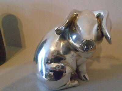 Stunning  Rare & Huge 1.391 Kg Country Artists  Hallmarked Filled Silver Pig