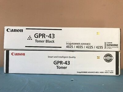 2 Genuine Canon GPR-43 GPR43 OEM iR Advance 4025 4035 4225 4235 Toner SEALED