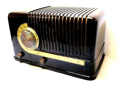 Excellent Silvertone radio ORIGINAL BAKELITE working Prewar 5 tube ca-1940 LQQK!