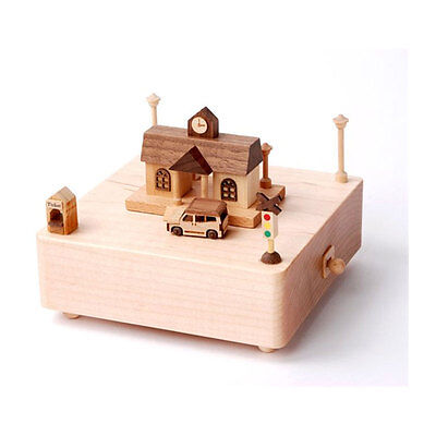 Music Box 41003 Station with Melody Wood New! #