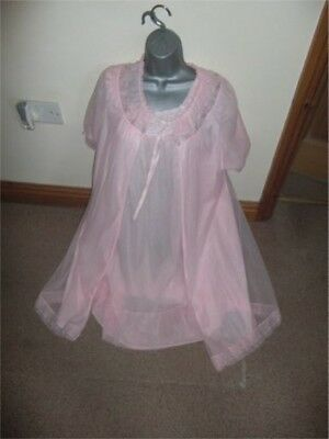 Vintage St Michael Blue Label Negligee And Aker Nightie Size 14