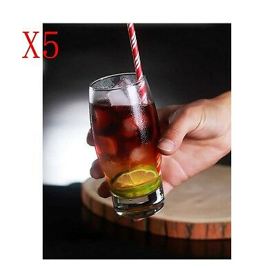 New 5X Capacity 355ML Height 140MM Transparent Cocktail Wine Glass/Glassware %