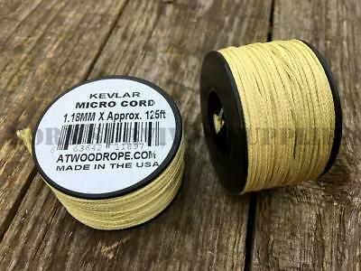 KEVLAR MICRO CORD 125ft SPOOL 320lb 1.18mm Paracord Rope Survival Kit Bushcraft