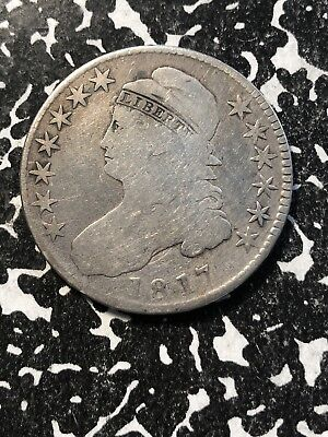 1817 U.S. Capped Bust Half Dollar Lot#SP112 Silver! Old Cleaning