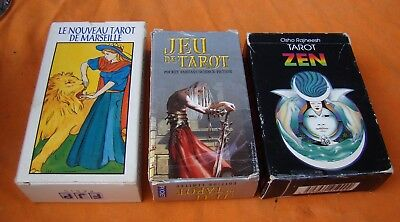 Le Tarot De Marseille , Tarot Zen ,tarot Science-Fiction 3 Jeux