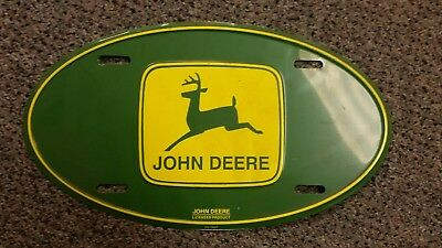 Green John Deere Official Oval License Plate Licensed Product