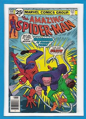 "Amazing Spider-Man #159_Aug 1976_Vf Minus_Doc Ock_""hammerhead Is Coming Thru""!"