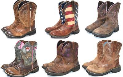 Women's LOT 6 LEATHER ARIAT FAT BABY JUSTIN GYPSY WESTERN COWBOY BOOTS 7, 7.5