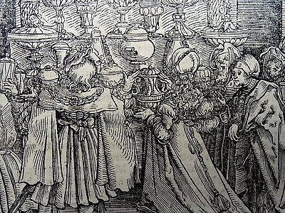 1532 Master of Petrach - Hans Weiditz 1495-1537 woodcut - Crystal Glass Seller