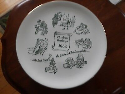 1962 Buffalo Art Pottery Christmas Greetings Dicken's Promotional Plate