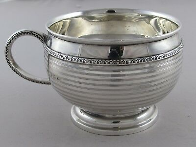 LOVELY ANTIQUE ART DECO SOLID STERLING SILVER CHRISTENING MUG ADIE BROS 1921 99g