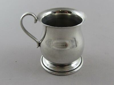 VINTAGE NOVELTY SILVER MINIATURE TANKARD WHISKY TOT SHOT CUP MEASURE 1977 25 g