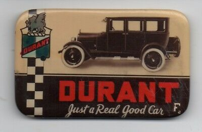 """Rare 1920s Advertising Pocket Mirror the Durant Automobile """" A Real Good Car """""""