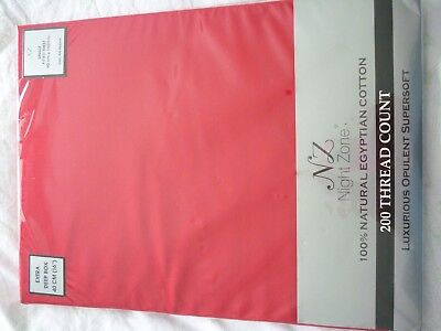 "Brand New Bright Red 16"" Deep Box Egyptian Cotton Single Fitted Sheet"