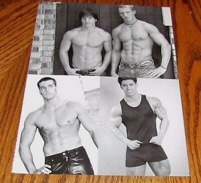 Shirtless Male Beefcake College Athletes B&W All American Guys PINUP 8X11 AAG28