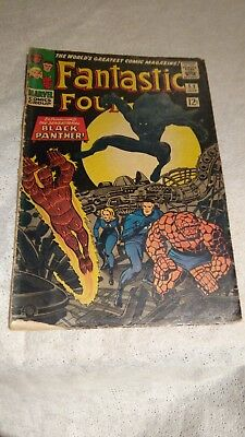 Marvel Comics Fantastic Four Issue 52 - First Appearance of The Black Panther