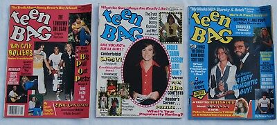 Lot of 3 Vintage 1970's TEEN BAG Magazines ~ Kristy MchNichol ~ BAY CITY ROLLERS