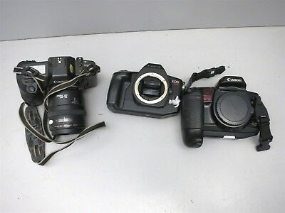Lot of Canon 35mm SLR w/ 1 Lens Untested