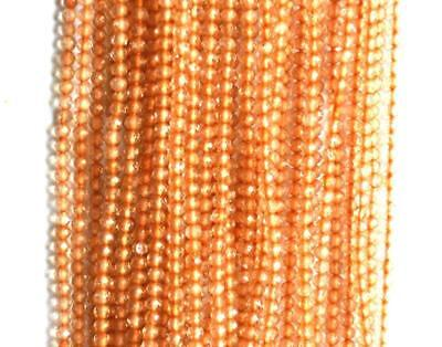 """12.5"""" Natural Citrine Faceted Rondelle Beads 2 Mm One Line 167 Pcs #127-1"""