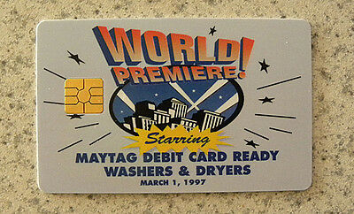 1997 MAYTAG Dealers Advertising World Premiere Debit Ready Card,Washers,Dryers