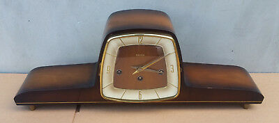 ART DECO DESIGN CHIMING MANTEL CLOCK FROM HERMLE Germany