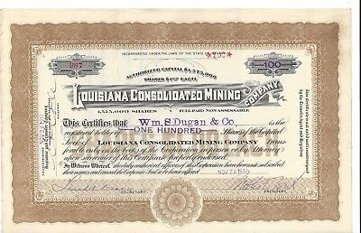 Stk-Louisiana Consolidated Mining Co. 1917 Mina, NV See #3 for infomation