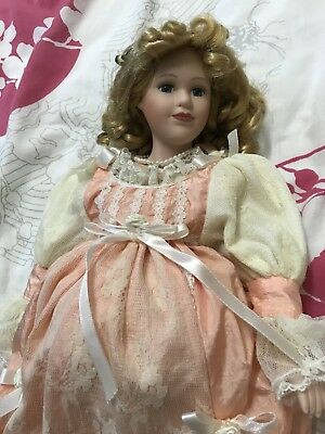 RARE Collectible Vintage Beautiful Porcelain Pregnant Doll With Child Baby